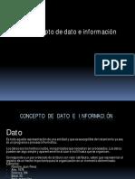 2018 - Conceptos de Dato e Información