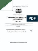 Marsabit County Solid Waste Management Bill 2014