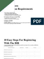 BIR Business Registration