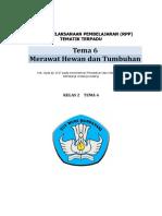 RPP Kelas 2 Tema 6 Merawat Hewan dan Tumbuhan.docx