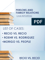 Persons Case Reporting