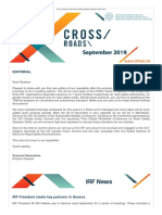 Cross Roads - Indian Road Federation Newsletter - September 2019