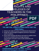 The Rights and Priveleges of Teachers in the Philippines13