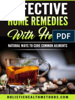Effective Home Remedies With Herbs