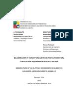 Elaboracion y Caracterizacion de Pasta Funcional Con Adicion de Harina de Bagazo de Uva