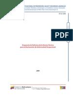Propuesta de Reforma de la Norma Técnica para la Declaración de Enfermedad Ocupacional (NT-02-2008)