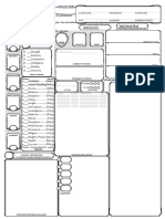 Fillable Dnd Character sheet (custom with notes)
