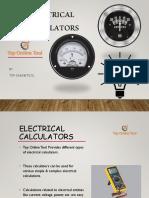 Top Online Tool - Electrical Calculators