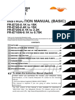 Mitsubishi Electronics Fr e740 User Manual