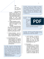 Classifications of Partnership