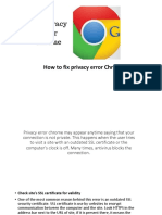 Privacy Error Chrome