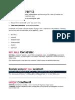 SQL constrains