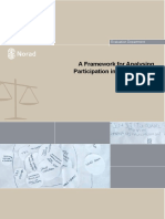 NORAD a Framework for Analysing Participation in Development