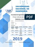 Procesos Manufactura - Informe 1.1
