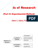 Types of Experimental Research Approaches