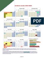 19.06 Calendario Escolar Comunidad de Madrid 2019-20