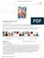 One Piece Filler List _ the Ultimate Anime Filler Guide