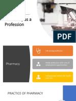 Pharmacy as a Profession Rev1