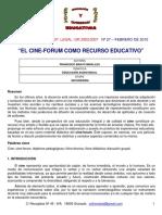 Cine Forum Como Recurso Educativo