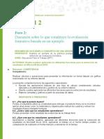 Discusión sobre lo que constituye la evaluación formativa basada en un ejemplo. M1_U2-Foro_2 Tarea Luis a. Cauna Anquise