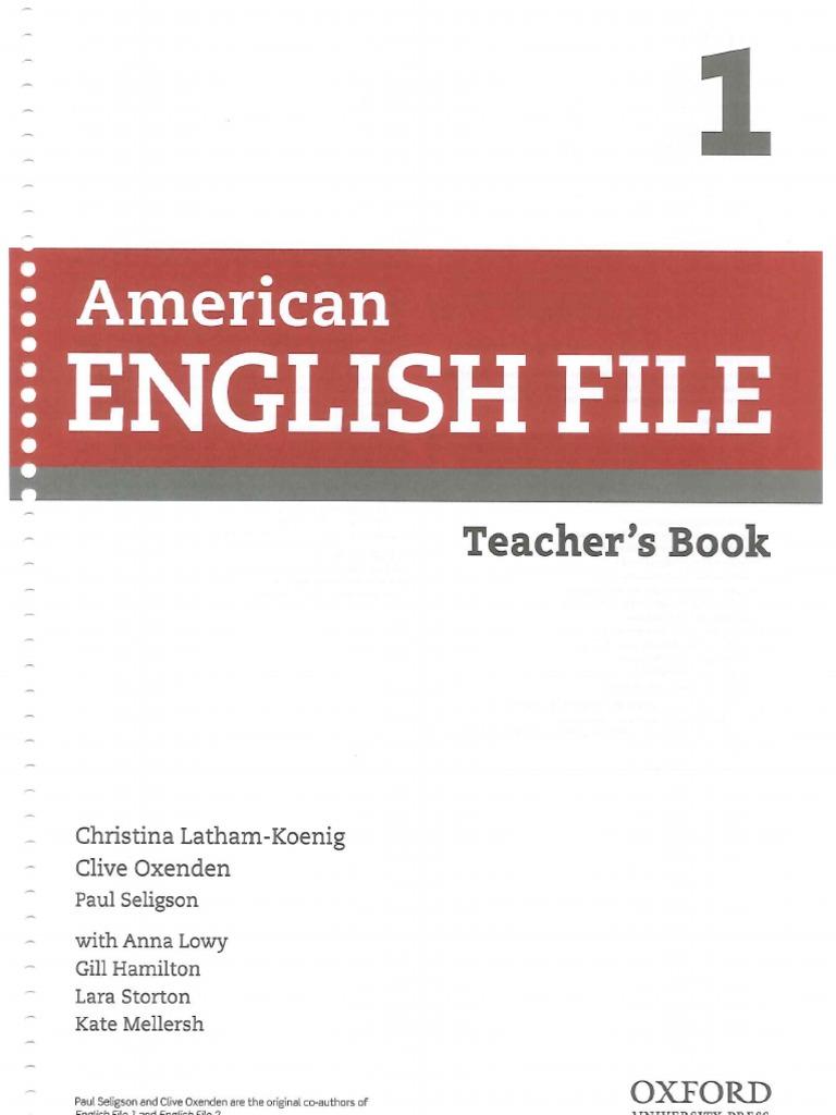 American English File 1 a e B Second Edition Teacher s