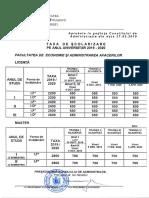 Taxe Scolare FEAA 2019-2020