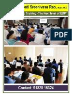 Dr Mynampati Sreenivasa Rao s Industry Setup Training-next Level of Edp