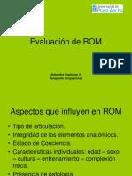 Evaluación de ROM