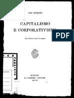 Ugo Spirito - Capitalismo e Corporativismo