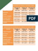 Cronograma Da Construção Do Currículo de Mário Campos