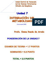 UNIDAD 7  INTEGRACIN METABOLICA