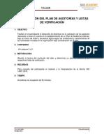 Plan de Auditorias y Listas de Verificación 1