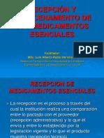 RECEPCIÓN  Y ALMACENAMIENTO 2019