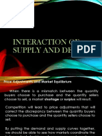 Interaction of Supply and Demand
