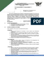Mgt 11 Course Summary