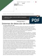 Sistemas de detección de incendios Por Jaime A. Mocada, P.E., SFPE