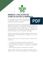 Manejo y Solucion de Conflictos en La Empresa (1)