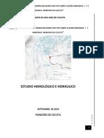 Memorias de Calculo Hidrologico y Estructural