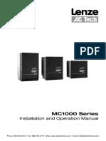 AC Tech MC1000 Drives Installation Operation Manual