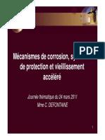 Mécanismes de corrosion