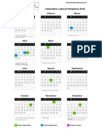 Calendario laboral Pamplona