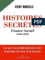 Histoires Secretes France- Israel 1948-2018