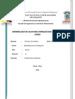 Mermelada de Guayaba Enriquecida Con Camu Camu Formulacion Objetivos de La Investigacion Xd