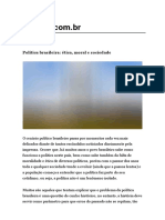 Política Brasileira_ Ética, Moral e Sociedade