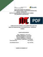 FABRICACION DE UN PINGEL CON ALUMINIO RECICLADO POR MEDIO DE FUNDICION PARA LA ESTACION COLON