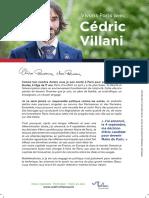 Premier tract de Cédric Villani