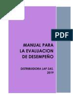 Manual Evaluación de desempeño