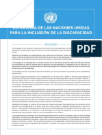 UN Disability Inclusion Strategy Spanish