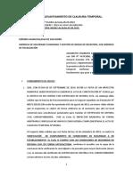 SOLICITUD DE LEVANTAMIENTO CLAUSURA TEMPORAL