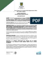 """CONSTRUCCIÓN DE LAS OBRAS DE MITIGACIÓN DE RIESGO EN EL PARQUE NACIONAL, ENTRE LA CALLE 40A BIS CON TRANSVERSAL 2 EN EL TRAMO INICIAL RIO ARZOBISPO, DE LA LOCALIDAD DE CHAPINERO, EN BOGOTÁ D.C"""""""